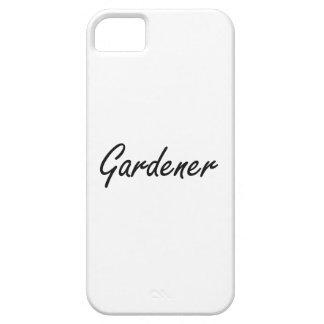Sistema de trabajo artístico del jardinero iPhone 5 carcasa