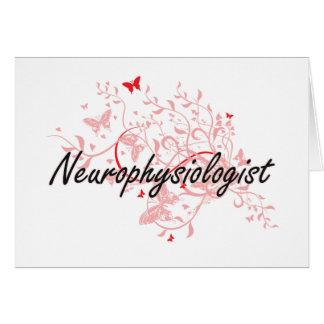 Sistema de trabajo artístico del neurofisiólogo tarjeta pequeña