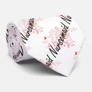 Sistema de trabajo artístico del Nursemaid con las Corbata Personalizada