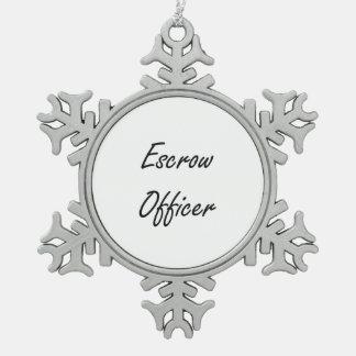 Sistema de trabajo artístico del oficial del adorno de peltre en forma de copo de nieve