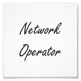 Sistema de trabajo artístico del operador de red fotografías