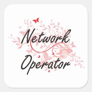Sistema de trabajo artístico del operador de red pegatina cuadrada
