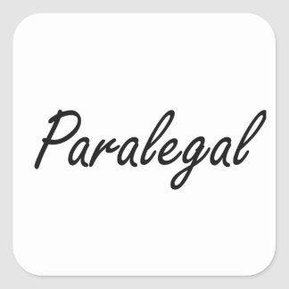 Sistema de trabajo artístico del Paralegal Pegatina Cuadrada