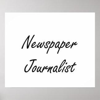 Sistema de trabajo artístico del periodista del póster
