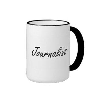 Sistema de trabajo artístico del periodista taza a dos colores
