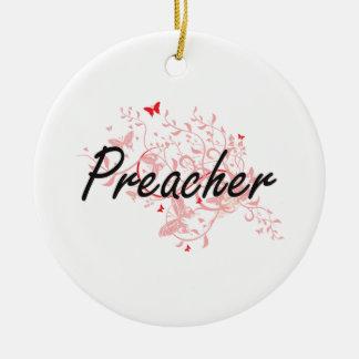 Sistema de trabajo artístico del predicador con adorno navideño redondo de cerámica