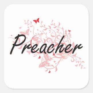 Sistema de trabajo artístico del predicador con pegatina cuadrada