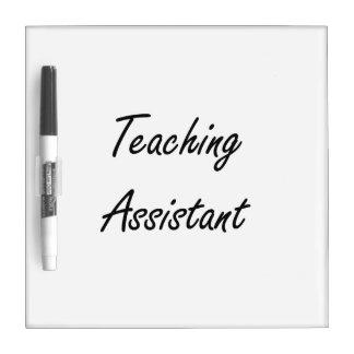 Sistema de trabajo artístico del profesor ayudante pizarra blanca