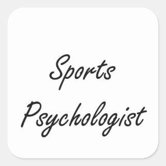 Sistema de trabajo artístico del psicólogo de los pegatina cuadrada