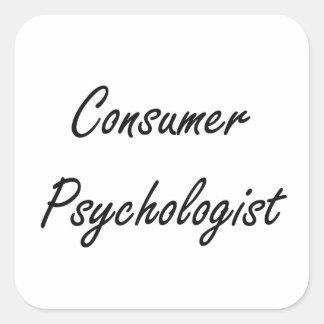 Sistema de trabajo artístico del psicólogo del pegatina cuadrada
