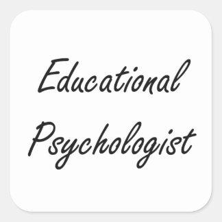 Sistema de trabajo artístico del psicólogo pegatina cuadrada