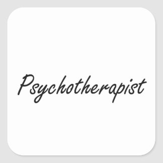 Sistema de trabajo artístico del psicoterapeuta pegatina cuadrada