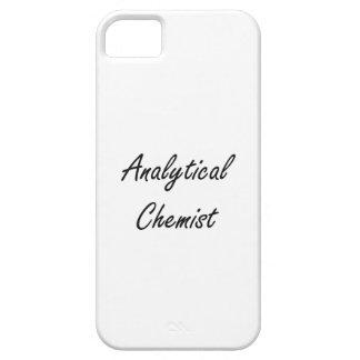 Sistema de trabajo artístico del químico analítico iPhone 5 protectores