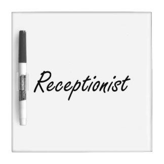 Sistema de trabajo artístico del recepcionista tableros blancos