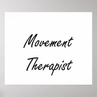 Sistema de trabajo artístico del terapeuta del póster