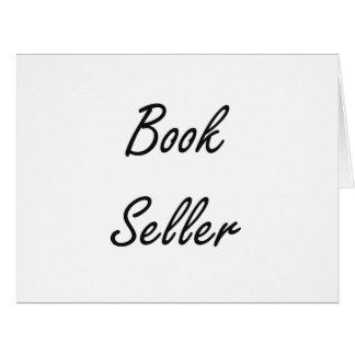Sistema de trabajo artístico del vendedor de libro tarjeta de felicitación grande