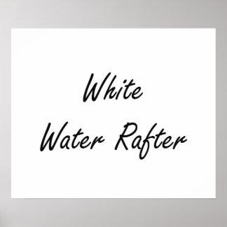 Sistema de trabajo artístico del viga del agua póster