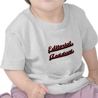 Sistema de trabajo clásico auxiliar editorial camisetas