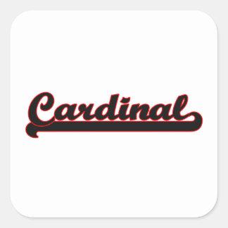 Sistema de trabajo clásico cardinal pegatina cuadrada
