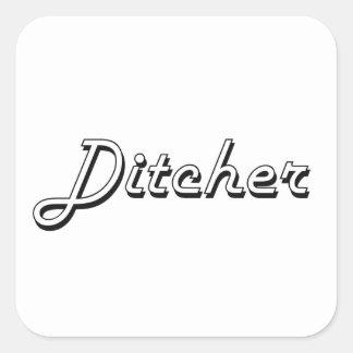 Sistema de trabajo clásico de Ditcher Pegatina Cuadrada