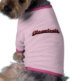Sistema de trabajo clásico de Glossologist Camiseta Con Mangas Para Perro