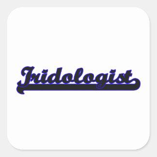Sistema de trabajo clásico de Iridologist Pegatina Cuadrada