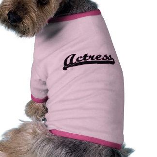 Sistema de trabajo clásico de la actriz camiseta con mangas para perro