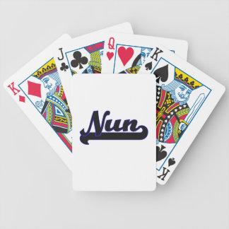 Sistema de trabajo clásico de la monja cartas de juego