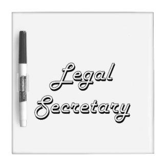 Sistema de trabajo clásico de la secretaria legal pizarra
