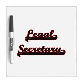 Sistema de trabajo clásico de la secretaria legal pizarras