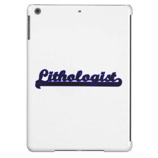 Sistema de trabajo clásico de Lithologist Funda Para iPad Air