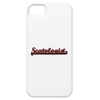 Sistema de trabajo clásico de Scatologist iPhone 5 Case-Mate Carcasas