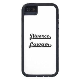 Sistema de trabajo clásico del abogado de divorcio iPhone 5 Case-Mate cárcasas