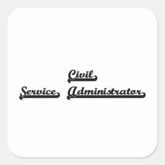 Sistema de trabajo clásico del administrador de la pegatina cuadrada
