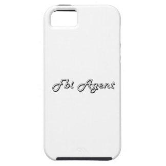 Sistema de trabajo clásico del agente del FBI iPhone 5 Carcasas