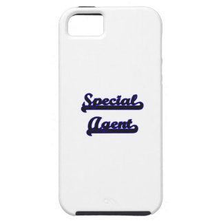 Sistema de trabajo clásico del agente especial iPhone 5 funda