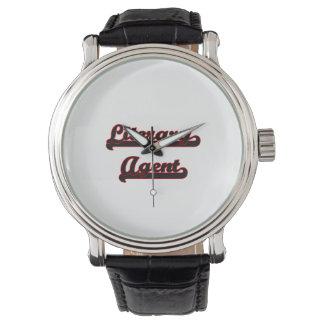 Sistema de trabajo clásico del agente literario reloj