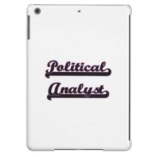 Sistema de trabajo clásico del analista político funda para iPad air