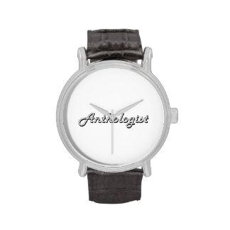 Sistema de trabajo clásico del Anthologist Relojes