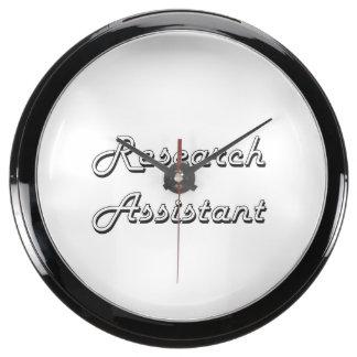 Sistema de trabajo clásico del asistente de reloj pecera