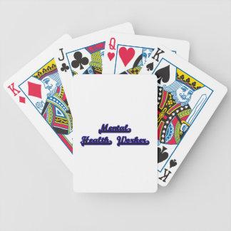 Sistema de trabajo clásico del ayudante de sanidad baraja de cartas