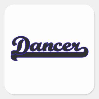 Sistema de trabajo clásico del bailarín pegatina cuadrada