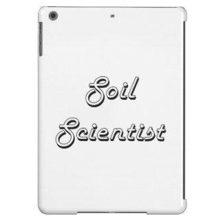 Sistema de trabajo clásico del científico del funda para iPad air