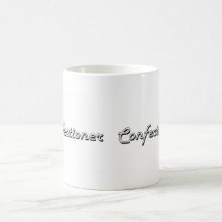 Sistema de trabajo clásico del confitero taza básica blanca