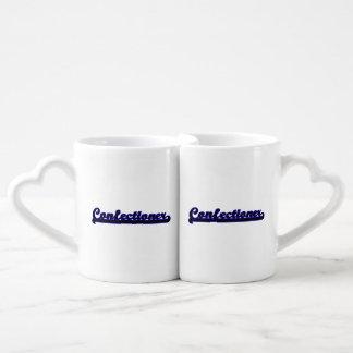 Sistema de trabajo clásico del confitero taza para enamorados
