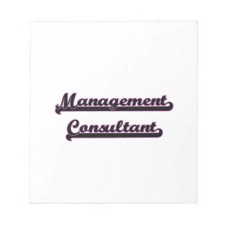 Sistema de trabajo clásico del consultor en blocs