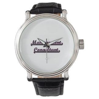 Sistema de trabajo clásico del consultor en reloj