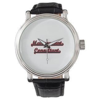Sistema de trabajo clásico del consultor en relojes