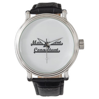 Sistema de trabajo clásico del consultor en reloj de mano