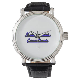 Sistema de trabajo clásico del consultor en relojes de mano